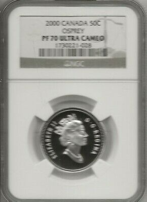 2000 Canada Fifty Cents Osprey  Ngc Pf-70 Uc   Finest Graded      New Low Price