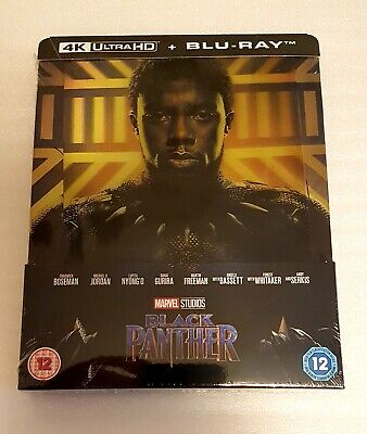 Marvel BLACK PANTHER Zavvi Exclusive 4K UHD+2D Lenticular Blu Ray Steelbook NEW