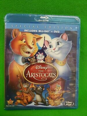 Disney The Aristocats (Blu-ray+DVD) Special Edition BRAND NEW FACTORY SEALED