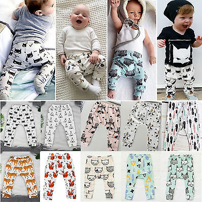 Kid Baby Girls Boys Long Trousers Sweatpants Leggings Harem Pants Casual Joggers