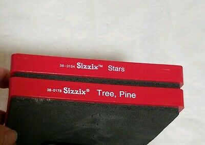 Sizzix Die Lot of 2- stars and tree, pine Red dies large