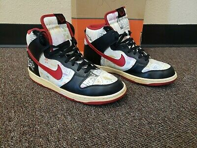 separation shoes 40b68 7ae33 VNT Nike Dunk High Premium Lucha Libre Black Red 10.5 Men s Shoes 312786-061