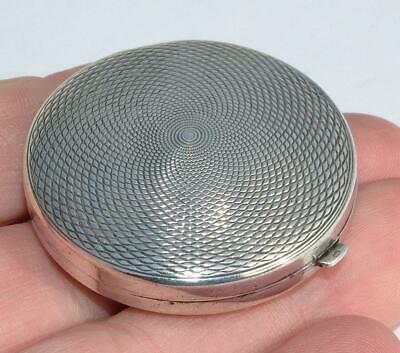 Solid Sterling Silver Art Deco 1930 Small Powder Compact By Crisford & Norris