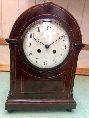 French Mahogany Striking Mantle Clock, Bracket Clock?
