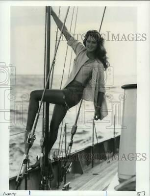 "1984 Press Photo Actress Brooke Shields in ""Wet Gold"" - pix13659"
