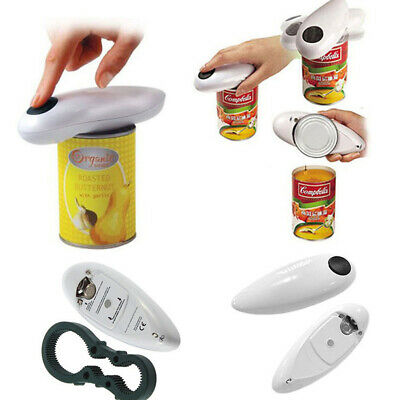 New Improved Culinare One  Automatic Can Opener White Black Electric