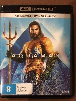 AQUAMAN (4K UHD & Blu-ray, 2019) - LIKE NEW!!!