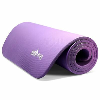 """Yes4All Premium NBR Printed Yoga Mat 1/2-inch (72""""x24"""") with Carrying Strap"""