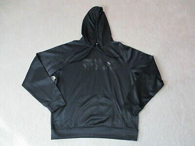 8ede3e0d7668a Fila Hoodie Sweater Size Adult Large Spell Out Hooded Long Sleeve Mens 90s