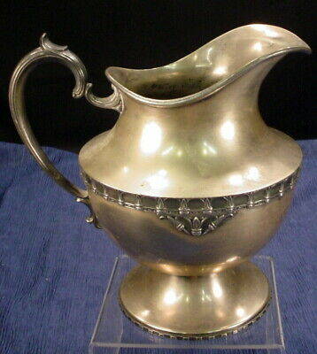 Vintage K.S. Inc C353 Electro Plate On Nickel Silver Water Pitcher