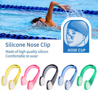 New UK Silicone Nose Clip Swimming Water Pool Sea KIT Unisex Adults Child Kids