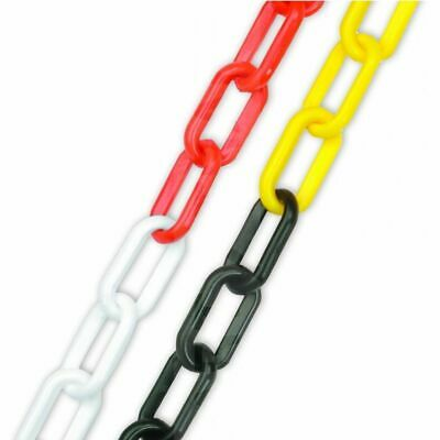 6mm Plastic Barrier Chain Link 4 Colors Safety Decorative Garden Fence 5m/10m