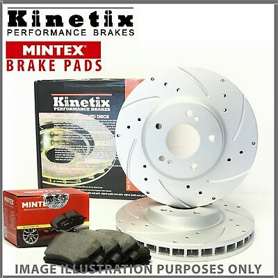 l14 For Mitsubishi 97-06 Front Drilled Grooved Brake Discs Pads