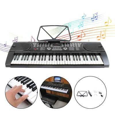 Digital 61-Tasten Keyboard E-Piano Klavier Led Display Lern Funktion 255 Sounds