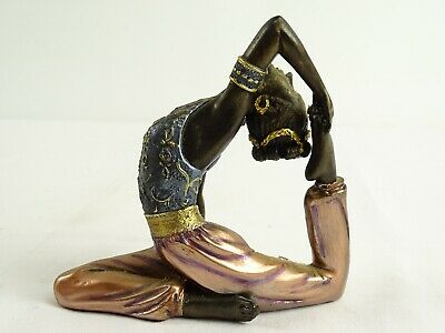 Hand Painted Statue of a Middle Eastern Dancer Composite Form Maker Unknown