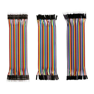 10/20/30Cm 40 Pin M-M F-F M-F Breadboard Dupont Jumper Wire Cable For Arduino Rr