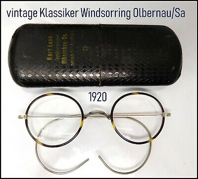 Oldtimer Klassiker  Brille  Windsorring 1920 Federbügel Optiker 11,5 cm breit