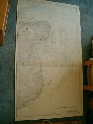 Vintage Admiralty Chart 1828 UK - THE DOWNS 1959 edn