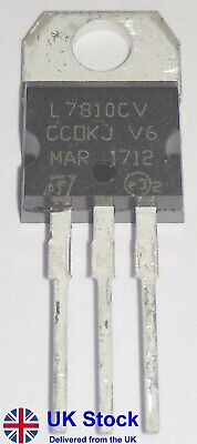+10V Positive Voltage Regulator L7810CV L7810C LM7810 7810 TO-220 (Pack of 1-50)