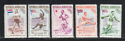 Dominican Rep. #474-478  1957 16Th Olympic Games Melbourne    Mint  Vf Nh  O.g