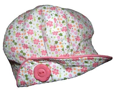 Baby Girls Summer Hat Baker Boy Style Ditsy Floral 0-3 Months and 6-9 Months
