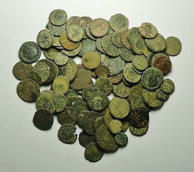 100 Small As Found Low Grade Roman Bronze Coins (718K)