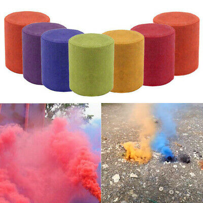 1-6 Colorful Smoke Cake Pills Round Photography Props Film Stage Show Maker