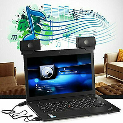 Protable USB Speaker Stereo External Clip-on Music Player for PC Laptop Notebook