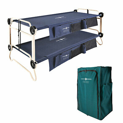 Disc-O-Bed XL Cam-O-Bunk Double Cot + 3 Shelf 6 Compartment Hanging Cabinet