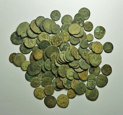 100 Small As Found Low Grade Roman Bronze Coins (720K)