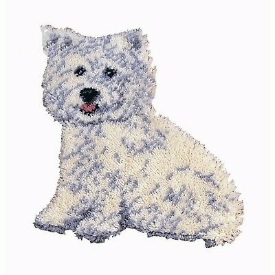 WESTIE PUPPY DOG LATCH HOOK RUG KIT from UK Seller, BRAND NEW