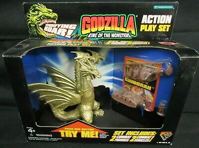 "1995 Trendmasters Godzilla King of the Monsters Ghidorah Play Set 4-5"" MIP S691"