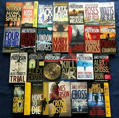 LOT of 24 ALEX CROSS MYSTERIES by JAMES PATTERSON, The People vs Alex Cross