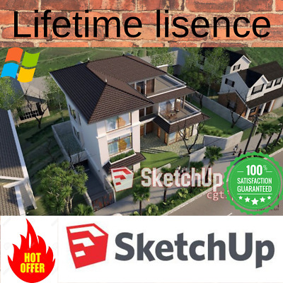 SketchUp Pro 2018 for Win 64Bit 🔐Lifetime lisence Activation 100% FAST DELIVERY