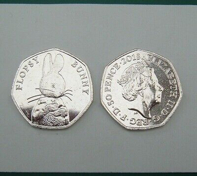 GB 2018 50p 50 Pence Beatrix Potter Flopsy Bunny. From Mint Bag.  Coin Hunt