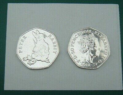 GB 2018 50p 50 Pence Beatrix Potter Peter Rabbit. From Mint Bag.  Coin Hunt