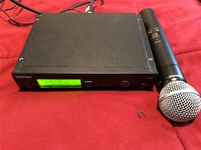Shure SLX4 494.518 Mhz Receiver & SM58 Wireless Handheld Microphone G5 + PWR SUP