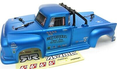 Arrma NOTORIOUS 6s BLX - Body Shell (BLUE polycarbonate outcast cover AR106044
