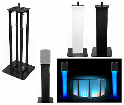 "(1) Rockville Black Adjustable Totem Stand For Behringer MPA200BT 8"" Speaker"