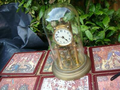Vintage 400 day Torsion  Anniversary  Dome Clock ,  Mantle  Clock