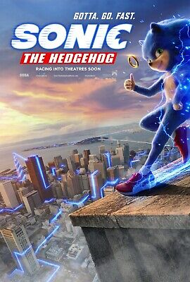 Sonic The Hedgehog movie poster (b)  - 11 x 17 inches (2019)