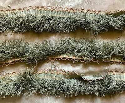 2m BEAUTIFUL 19th CENTURY FRENCH NAPOLEON III SILK PASSEMENTERIE c1860s 90.