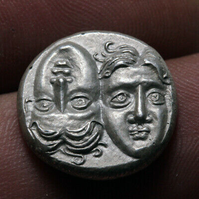 Ancient Greek coin MOESIA, Istros. Circa 4th Century BC. SILVER Stater