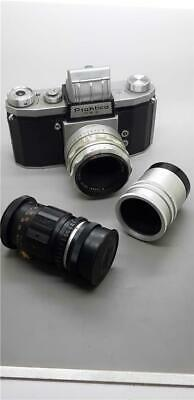 Vintage Praktica FX3 SLR Camera with Carl Zeiss Tessar and Hanimex Lenses