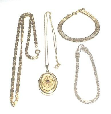 4 Pieces Collection of GOLD PLATED & SILVER Jewellery  - L18