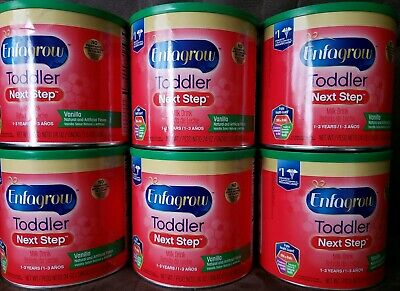 (6) Enfagrow Toddler Next Step Milk Drink Powder, Vanilla, 24 OZ Each 04/01/2020