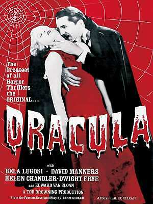 V-181 DRACULA Movie 1931 Bela Lugosi Universal Monsters Art Poster Canvas24x36in