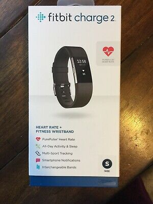 Fitbit Charge 2 ~ Small ~ Black Band ~Brand New-sealed Box