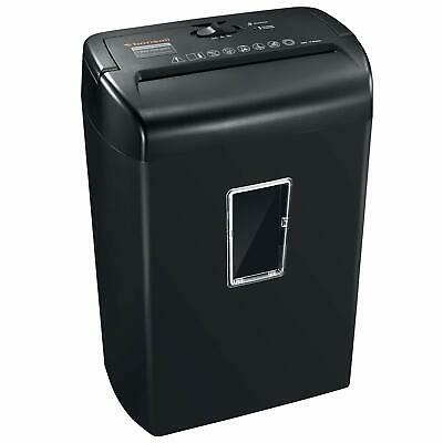 Bonsaii 10Sheets CrossCut Paper and Credit Card Shredder with 5.5 Gallons Black