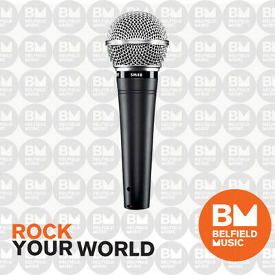 Shure SM48 Microphone Cardioid Dynamic Vocal Mic - SM-48 - Brand New